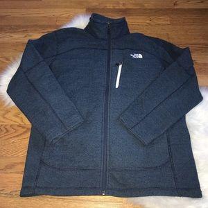 The North Face blue fleece full zip jacket Men's M